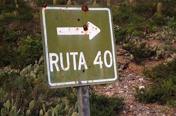 La gran Ruta 40 en Patagonia